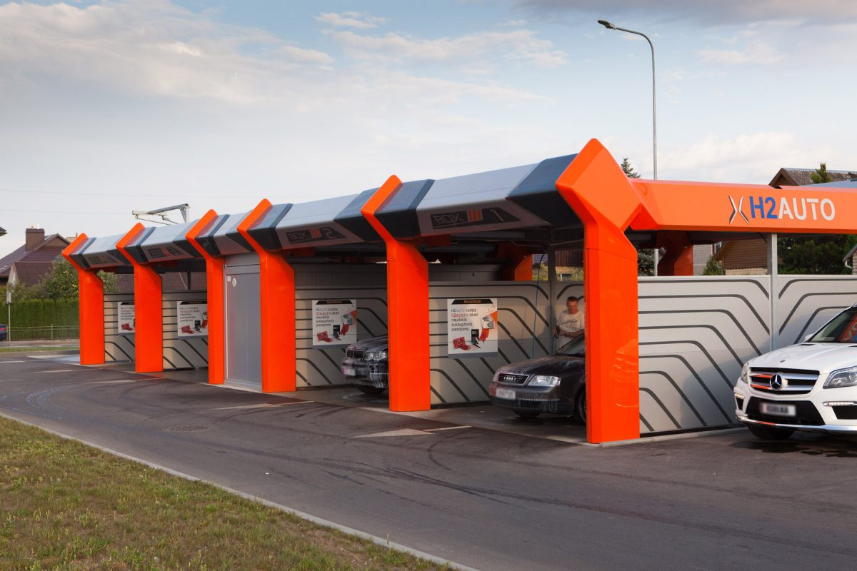 Self-service Car Wash Station, Taurage, Lithuania